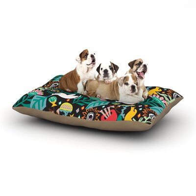 Agnes Schugardt Folk Fusion Abstract Dog Pillow with Fleece Cozy Top Size: Large (50 W x 40 D x 8 H)