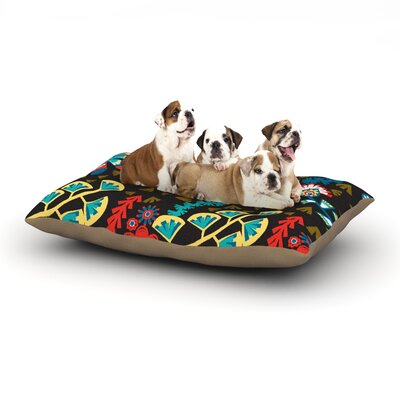 Agnes Schugardt Wycinanka Abstract Dog Pillow with Fleece Cozy Top Size: Large (50 W x 40 D x 8 H)