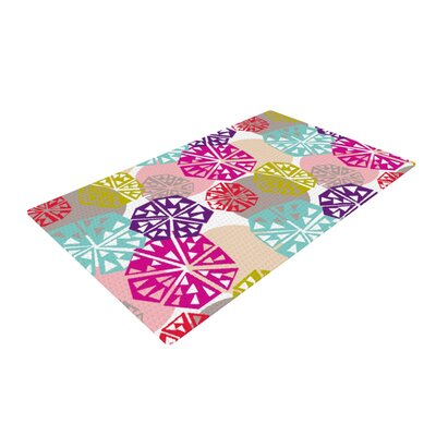 Agnes Schugardt Pie in the Sky Rainbow Abstract Pink/Purple Area Rug