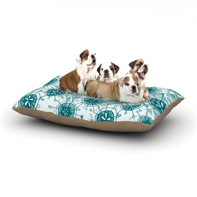 Anchobee Satellite Dog Pillow with Fleece Cozy Top Size: Small (40 W x 30 D x 8 H)