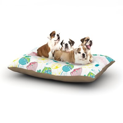 Anneline Sophia Indie Floral Dog Pillow with Fleece Cozy Top Size: Small (40 W x 30 D x 8 H)
