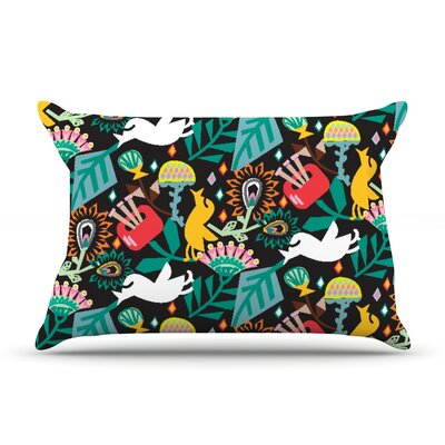 Agnes Schugardt Folk Fusion Rainbow Abstract Pillow Case