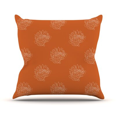 Simpley Protea Throw Pillow Size: 18 H x 18 W x 1 D