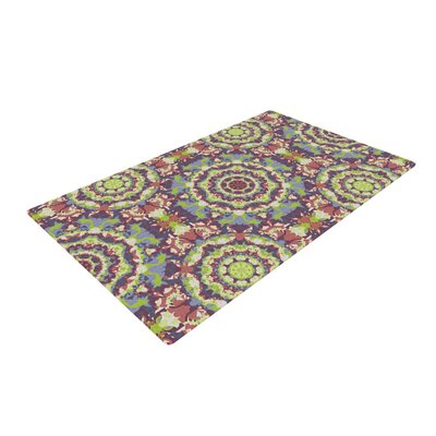 Allison Soupcoff Plum Lace Green/Purple Area Rug Rug Size: 4 x 6