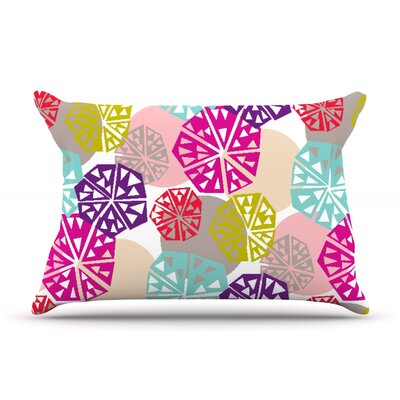 Agnes Schugardt Pie In The Sky Rainbow Abstract Pillow Case