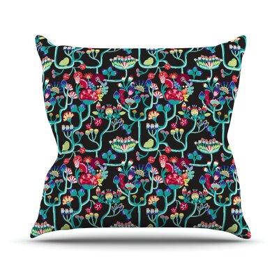 Antique Folk by Agnes Schugardt Rainbow Throw Pillow Size: 26 H x 26 W x 1 D