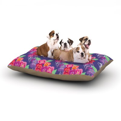 Anneline Sophia Beautifully Boho Dog Pillow with Fleece Cozy Top Size: Small (40 W x 30 D x 8 H)