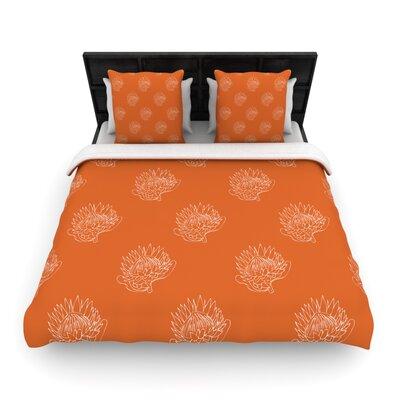 Simply Protea Woven Comforter Duvet Cover Size: King