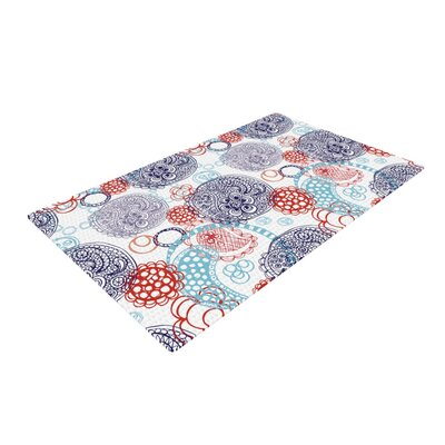Anneline Sophia Lacy Ying Yang Blue Area Rug Rug Size: 4 x 6