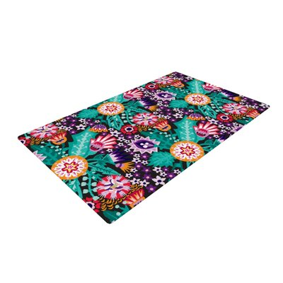 Agnes Schugardt Folk Meadow Purple/Teal Area Rug Rug Size: 2 x 3