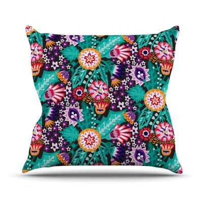 Folk Meadow by Agnes Schugardt Throw Pillow Size: 16 H x 16 W x 1 D