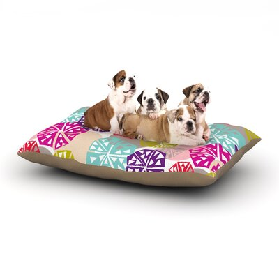 Agnes Schugardt Pie in the Sky Abstract Dog Pillow with Fleece Cozy Top Size: Large (50 W x 40 D x 8 H)