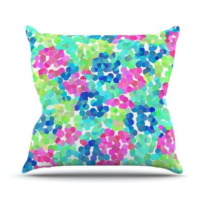 Flower Garden by Beth Engel Throw Pillow Size: 20'' H x 20'' W x 1
