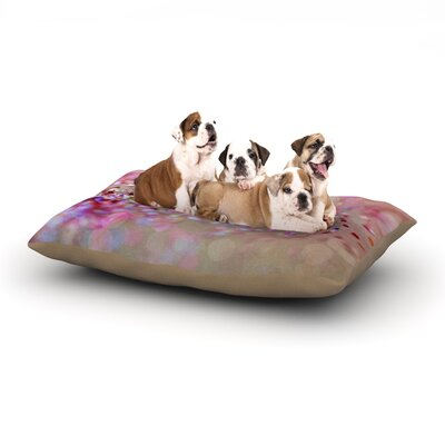 Beth Engel Princess Confetti Dog Pillow with Fleece Cozy Top Size: Small (40 W x 30 D x 8 H)