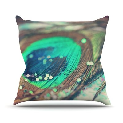 Peacocks Dream by Beth Engel Throw Pillow Size: 18 H x 18 W x 1 D