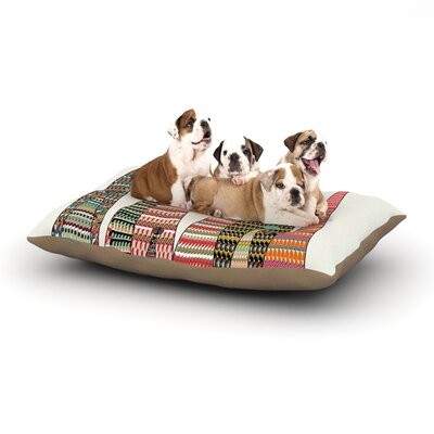 Bri Buckley Feather Peaks Triangles Dog Pillow with Fleece Cozy Top Size: Small (40 W x 30 D x 8 H)
