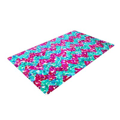 Beth Engel Scattered Pink/Blue Area Rug Rug Size: 2 x 3
