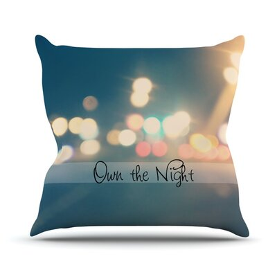 Own The Night by Beth Engel Throw Pillow Size: 20 H x 20 W x 1 D