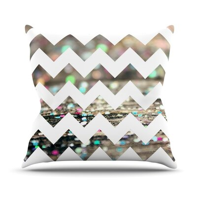 After Party Chevron by Beth Engel Throw Pillow Size: 18 H x 18 W x 1 D