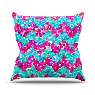 Scattered by Beth Engel Throw Pillow Size: 18 H x 18 W x 1 D