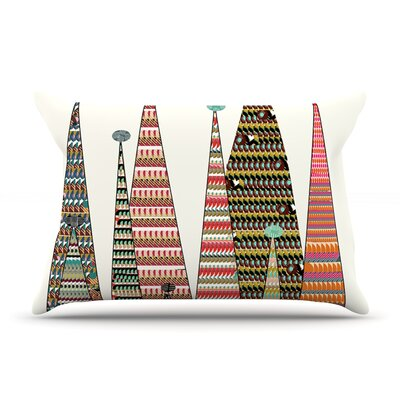 Bri Buckley Feather Peaks Rainbow Triangles Pillow Case