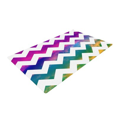 Beth Engel Lucky Chevron White/Pink Area Rug Rug Size: 2 x 3