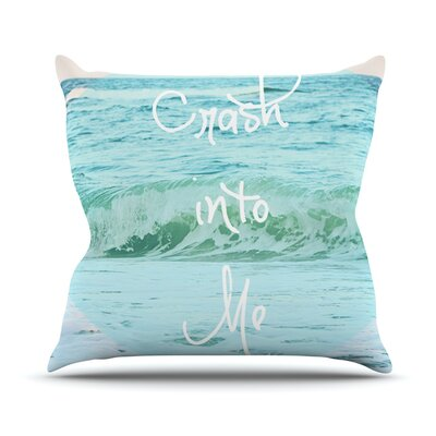 Crash Into Me by Beth Engel Throw Pillow Size: 18 H x 18 W x 1 D