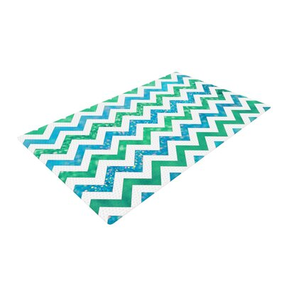 Beth Engel By the Sea Green/Blue Area Rug Rug Size: 2 x 3