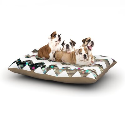 Beth Engel After Party Chevron Dog Pillow with Fleece Cozy Top Size: Large (50 W x 40 D x 8 H)