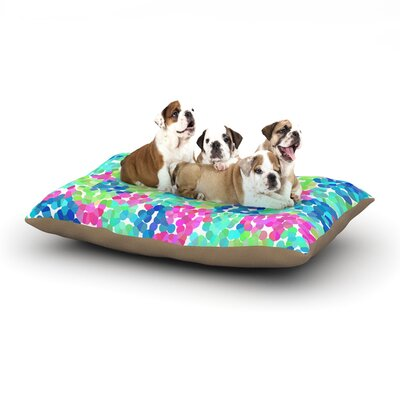 Beth Engel Flower Garden Dog Pillow with Fleece Cozy Top Size: Large (50 W x 40 D x 8 H)