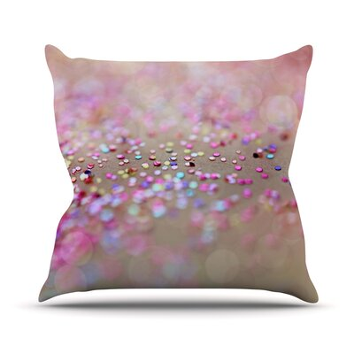 Princess Confetti by Beth Engel Throw Pillow Size: 26 H x 26 W x 1 D