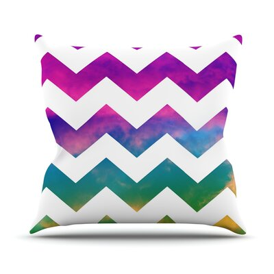 Lucky Chevron by Beth Engel Throw Pillow Size: 26 H x 26 W x 1 D