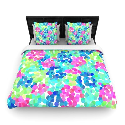 Flower Garden Woven Comforter Duvet Cover Size: Full/Queen