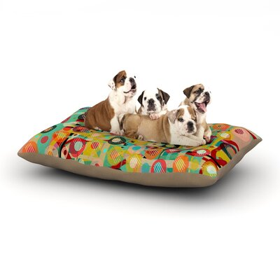 Bri Buckley Gift Wrapped Crazy Abstract Dog Pillow with Fleece Cozy Top Size: Large (50 W x 40 D x 8 H)