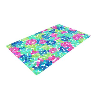 Beth Engel Flower Garden Pink/Blue/Green Area Rug