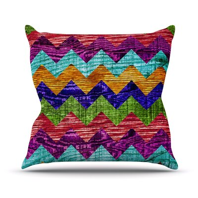 Natural Flow by Beth Engel Chevron Throw Pillow Size: 26 H x 26 W x 1 D