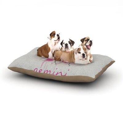 Belinda Gillies Gemini Dog Pillow with Fleece Cozy Top Size: Small (40 W x 30 D x 8 H)