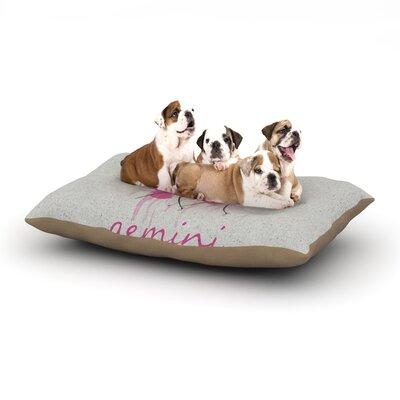 Belinda Gillies Gemini Dog Pillow with Fleece Cozy Top Size: Small (40 W x 30 D x 8 H)