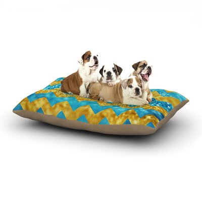 Beth Engel Blueberry Twist Chevron Dog Pillow with Fleece Cozy Top Size: Small (40 W x 30 D x 8 H)