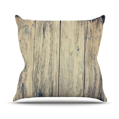 Wood Photography II by Beth Engel Throw Pillow Size: 18 H x 18 W x 1 D