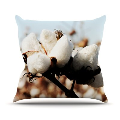 Southern Snow by Beth Engel Throw Pillow Size: 18 H x 18 W x 1 D