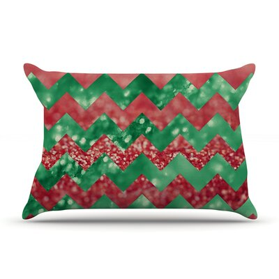 Beth Engel Twist Pillow Case Color: Red/Green