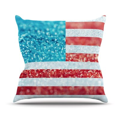 Glitter by Beth Engel Flag Throw Pillow Size: 20 H x 20 W x 1 D
