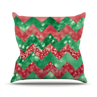 Sparkle by Beth Engel Chevron Throw Pillow Size: 16 H x 16 W x 1 D