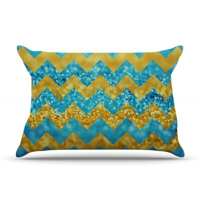 Beth Engel Twist Pillow Case Color: Gold/Blue