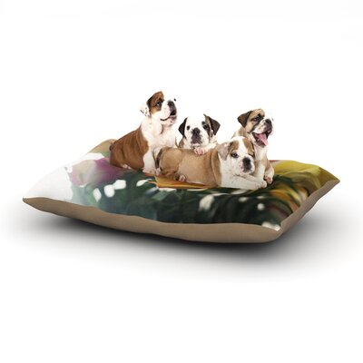 Beth Engel Sweet Reminder Flowers Dog Pillow with Fleece Cozy Top Size: Small (40 W x 30 D x 8 H)