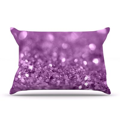 Beth Engel Lucky Shamrock Pillow Case Color: Purple
