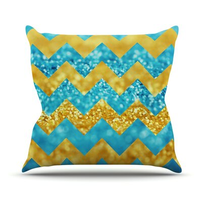 Blueberry Twist by Beth Engel Chevron Throw Pillow Size: 16 H x 16 W x 1 D