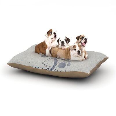 Belinda Gillies Aquarius Dog Pillow with Fleece Cozy Top Size: Large (50 W x 40 D x 8 H)