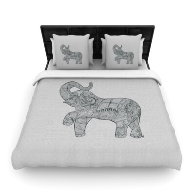 Elephant Woven Comforter Duvet Cover Size: Full/Queen